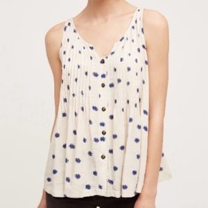 Anthropologie Maeve Saona Polka Dot Swing Tank 6